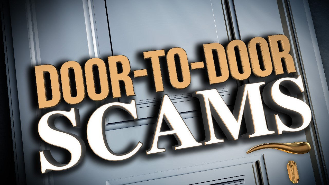 video surveillance and door to door scams