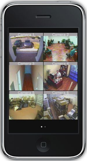 Business video surveillance mobile